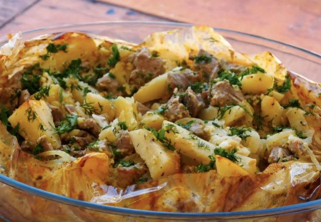 Обед в рукаве: складываем ингредиенты и в духовку