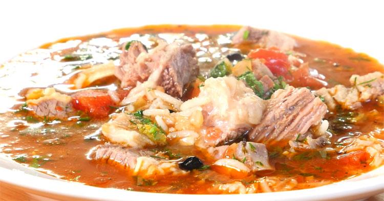 Харчо по-имертински: варим сытный суп из риса и мяса